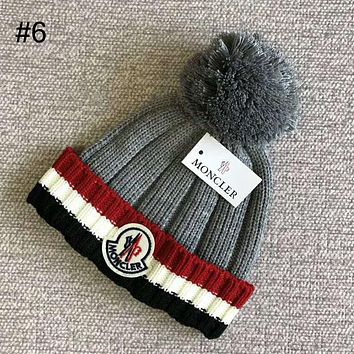 MONCLER 2018 autumn and winter new knit hats for men and women models wild warm hat #6