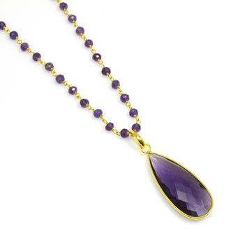 Amethyst and Gold Rosary Chain
