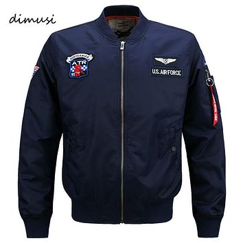 DIMUSI Bomber Jacket Men 2017 Ma-1 Flight Jacket Pilot Air Force Male Ma1 Army Green Military motorcycle Jackets Coats 6XL,YA591