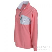 Southern Marsh Monogram Seersucker Pullover | Lakeside Cotton