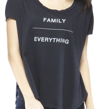 "The ""FAMILY OVER EVERYTHING"" Paige – good hYOUman - made in LA// CA// Y.O.U.S.A."
