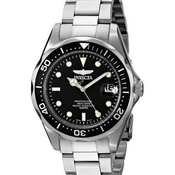 Invicta Pro Diver 200M Quartz Black Dial 8932 Men's Watch