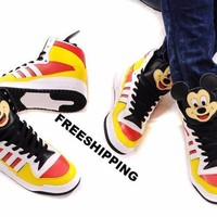 ADIDAS ORIGINALS ObyO JEREMY SCOTT Mickey Mouse Sneakers SUPER RARE AND COOL