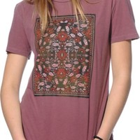 Obey Flowers Oxblood T-Shirt