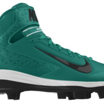 Nike Air Huarache Pro Mid MCS iD Custom Men's Baseball Cleats - Green