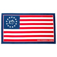 Grand Ole Flag Beach Towel in Red, White and Blue by Southern Tide