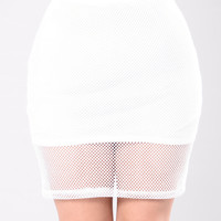 Love The Way I Talk Skirt - White