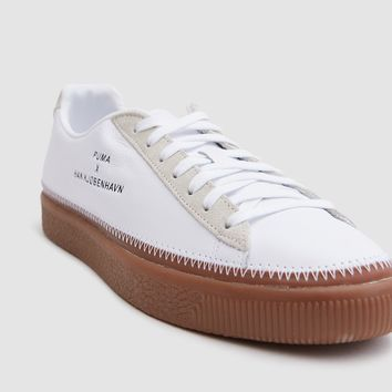 Puma / Basket Stitched Han in White/Gum