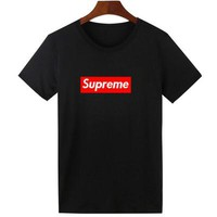 Supreme Women Men Fashion Casual T-Shirt