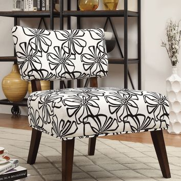 Able Accent Armless Chair, White