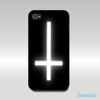 iphone 4 case,iphone 4S case -- upside down Cross style