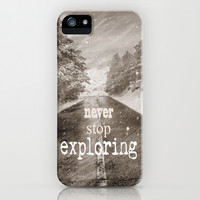 Never stop exploring ... forests iPhone & iPod Case by Guido Montañés
