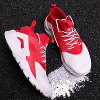 hcxx N287 Nike Air Huarache 4 Run Ultra Mesh Running Shoes Red White