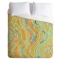 Lisa Argyropoulos Rustic Waves Duvet Cover