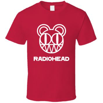 Alternative Rock Band  Radiohead Logo  T Shirt