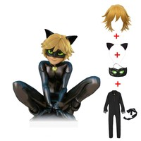 Miraculous Ladybug Cat Noir Halloween Christmas Costume For Boys Cosplay Kids Party Clothes Mask Costumes Jumpsuits Set
