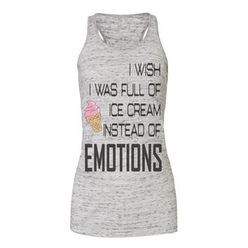 ice cream and emotions tanks, workout tank top, workout tank, exercise tank, gym tank, workout, workout tanks, tank top, workout shirts,