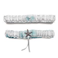 Starfish Garters for Beach Themed Wedding