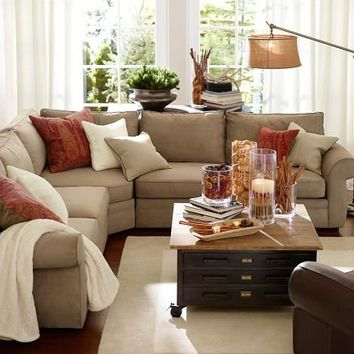 Pearce 3-Piece L-Shaped Sectional with Wedge - everydaysuede&#8482