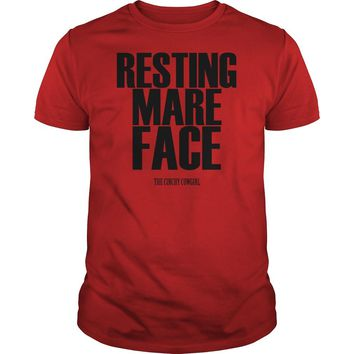 Resting mare face the cinchy cowgirl shirt Guys Tee