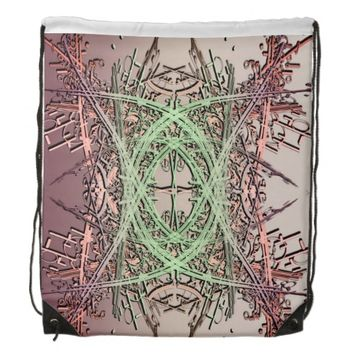 Abstract Design 1 Drawstring Bag