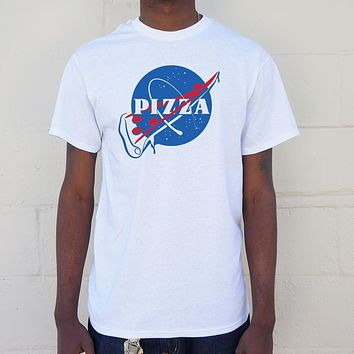 Mens NASA Pizza Slice T-Shirt