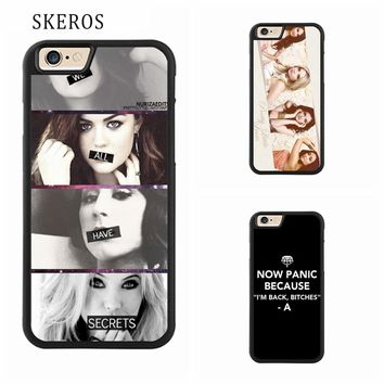 SKEROS Pretty Little Liars phone case for iphone X 4 4s 5 5s 6 6s 7 8 6 plus 6s plus 7 plus 8 plus #A401