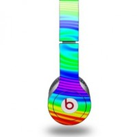 Rainbow Swirl Decal Style Skin - fits genuine Beats Solo HD Headphones (HEADPHONES NOT INCLUDED)