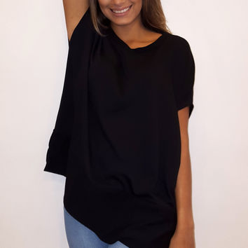 French Terry Tunic - Black