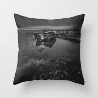 On the wrong side of the lake 8 Throw Pillow by HappyMelvin