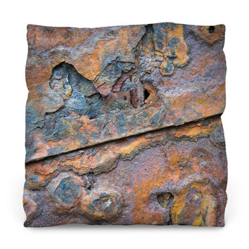 Close-Up Rust Outdoor Throw Pillow