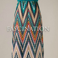 Teal Zig Zag Dress