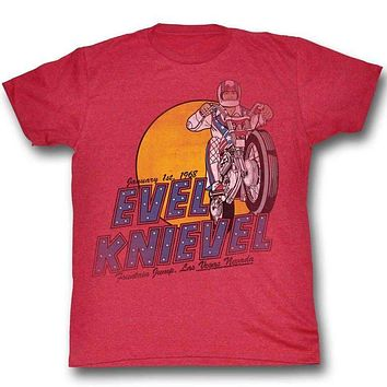Evel Knievel Danger Zone Adult Tee
