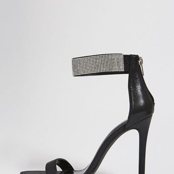 Faux Crystal Stiletto Heels
