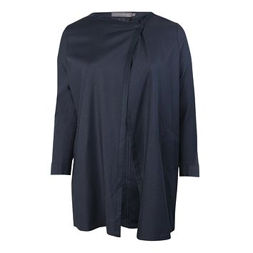 Drape Front Jacket Plus Size