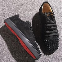 Cl Christian Louboutin Low Style #2075 Sneakers Fashion Shoes