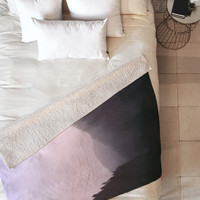 Leah Flores Wilderness x Pink Fleece Throw Blanket