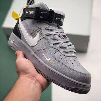 NIKE AIR FORCE 1 MID 07 Men Women Fashion Tide brand simple version high-top Sneakers Sport Shoes Size 36-45