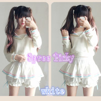 BACK TO STOCK!{A PINKO}Super Cute Sailor Jumper Free shipping SP130101
