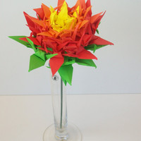 Origami crane, Origami flower, Origami crane flower, Flower for Mother's day, paper bouquet, paper Flower , Origami crane,craneflower