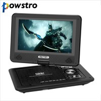 Portable DVD Player RCA Car Charger Portable TV 9 Inch Swivel Screen DVD Player for Cars Game USB with Battery Portable
