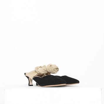 Bow Tie Suede Shoes