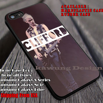 In clifford, michael clifford, guitar , 5 sos, 5 Second of Summer, case/cover for iPhone 4/4s/5/5c/6/6+/6s/6s+ Samsung Galaxy S4/S5/S6/Edge/Edge+ NOTE 3/4/5 #music #5sos ii