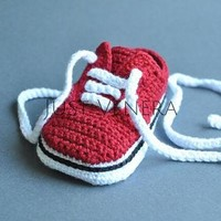Crochet baby shoes - unique booties -baby vans -newborn gift - baby boy -baby girl - s