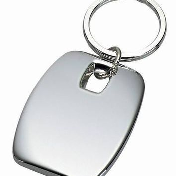 Free Engraved Personalized Custom Heavy Silver Keychain
