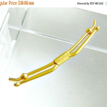 SALE Gold Filled Bow Tie Bar, Vintage BALL Bow Tie Clip.