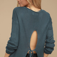 Olive & Oak Bali Slate Blue Sweater