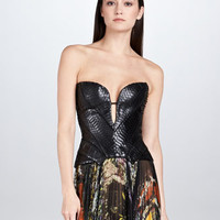 Molded Python Bustier Top