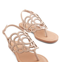ModCloth Peony More Where That Came From Sandal in Beige
