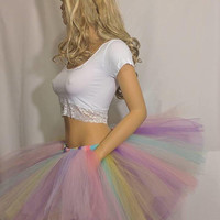 Adult or Child Unicorn Rainbow Tutu